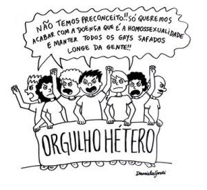 Será que o orgulho hétero é um contraponto de quem quer manter o ódio e o preconceito contra a comunidade LGBT?