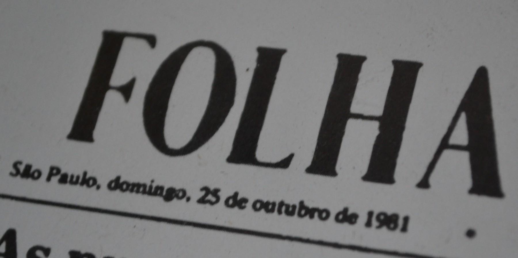 FOLHA São Paulo, domingo, 25 de outubro de 1981